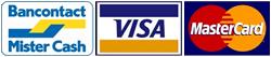 Bancontact Mister Cash - Visa - Mastercard